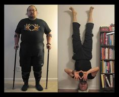 Arthur before and after with DDP Yoga wow such an inspiration!!