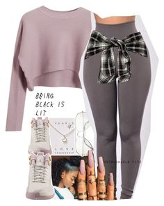 .. by renipooh on Polyvore featuring polyvore, fashion, style, Chicnova Fashion, Dogeared, NIKE and clothing