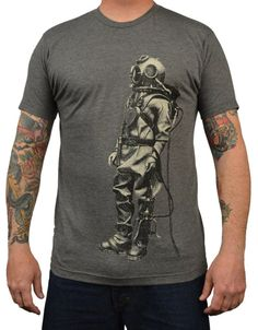 4d976a0671 Men s Annex Clothing Sea Diver Explorer Vintage Art Design T Shirt –  moodswingsonthenet  MensT-