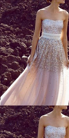 A-line Strapless Floor-length Chiffon Prom Dress,Evening Dress ,Train Dresses,PDY0364#prom dress#