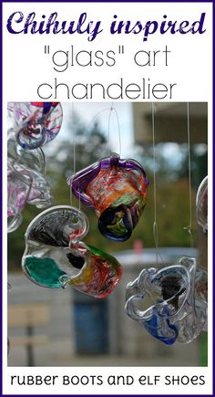 Chihuly art - kindergarten style