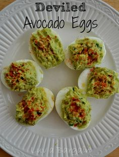 So, I made those fabulous Hard Boiled Eggs in the oven the other day and wanted to use them to make some clean eating Deviled Eggs with Avocados. All I can say is yum yum! INGREDIENTS 3 hard boiled eggs, cut in half 1 large avocado 2 tsp lime juice 1 tsp cilantro Pinch of …