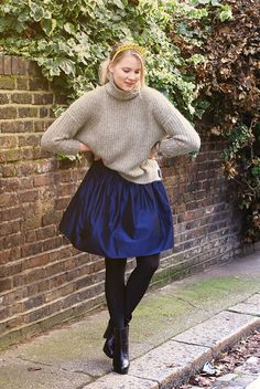 Follow me on Instagram @iida_hellgren    More details on the blog www.commedfilles.blogspot.co.uk Outfit, fashion, blog, style, ootd, blogger, inspiration, street style, details, shereni and shentel, muotikuu, silk, zara, jumper, dkny, jimmy choo, accessories, garden, scandinavian, midi skirt, heels