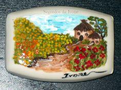 SA47-  Pintura em sabonete - motivo paisagem de campo