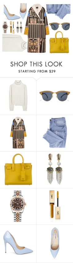 """""""Go Bold: Statement Coats"""" by tamaramanhardt ❤ liked on Polyvore featuring Proenza Schouler, Etro, Essie, Yves Saint Laurent, Alexis Bittar, Rolex, Steve Madden, contest, contestentry and polyvorecontest"""