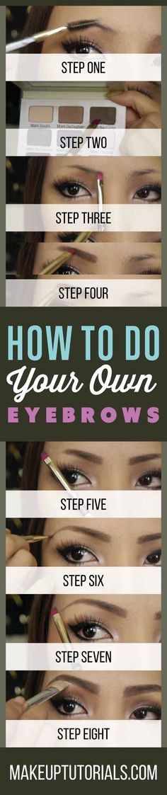 How To Shape The Perfect Brows   Tips For Doing Your Eyebrows Like A Pro By Makeup Tutorials. http://makeuptutorials.com/makeup-tutorials-how-to-do-your-own-eyebrows/ .