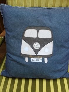 StammMobil pillow, very limited edition ; Tree Trunk Table, Made Of Wood, Vw, Stitching, Throw Pillows, Bags, Inspiration, Design, Tree Stump Table