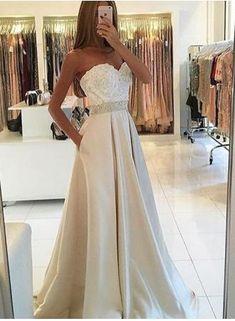 Sweetheart Ivory Prom Dress,Long Prom Dresses,Charming Prom Dresses,Evening Dress, Prom Gowns, Formal Women Dress,prom dress,F305