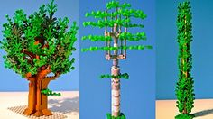 Small LEGO Trees by Paul Toxopeus and link to how to build trees video in  Dutch.