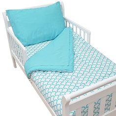 American Baby Company 100% Cotton Percale Toddler Bed Set, Aqua Sea Wave American Baby Company http://www.amazon.com/dp/B00M9ZQSYQ/ref=cm_sw_r_pi_dp_abpEub1A0SEME