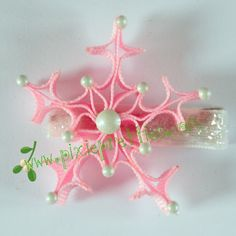 Snowflake--this would make a cute Christmas ornament for the tree                                                                                                                                                                                 More