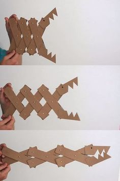 Making an expandable cardboard monster