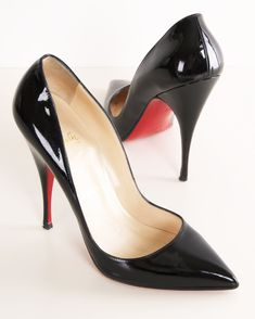 CHRISTIAN LOUBOUTIN HEELS. You just can't beat a pointy toe, black stiletto heel. Classic.
