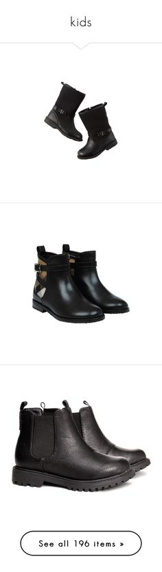 """kids"" by loveonedirection-i on Polyvore featuring kids shoes, shoes, boots, baby, boys shoes, kid shoes, synthetic leather shoes, faux-leather boots, checkered boots et shearling-lined boots"
