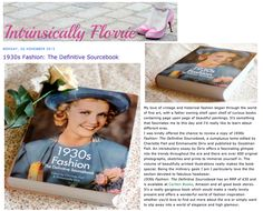 1930s Fashion: The Definitive Sourcebook, Intrinsically Florrie blog review