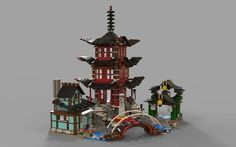 Lego chinese temple | 3D model