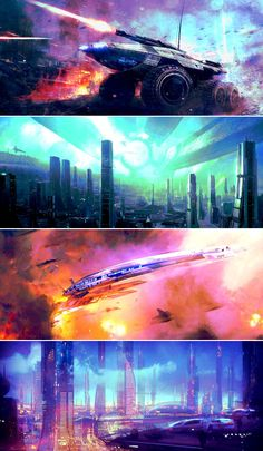 Mass Effect Scenery Coloring