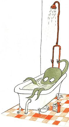 Emile the friendly octopus - Tomi Ungerer 1960