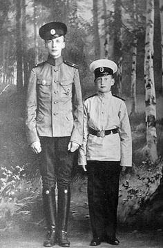 Prince Oleg Konstantinovich of Russia with his brother Prince George Konstantinovich of Russia.
