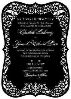 another invitation idea with Rachel's machine, but not in black
