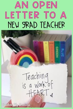 Are you a new grad teacher? Read a letter all about how to survive and LOVE your first year of teaching {first year teacher, new teacher, first year out teaching} Primary School Teacher, First Year Teachers, Primary Education, Primary Classroom, New Teachers, School Classroom, Elementary Schools, Continuing Education, Classroom Organisation