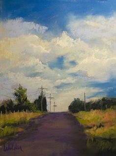 Over the Hill by Judy Wilder Dalton Pastel ~ 7 x 5