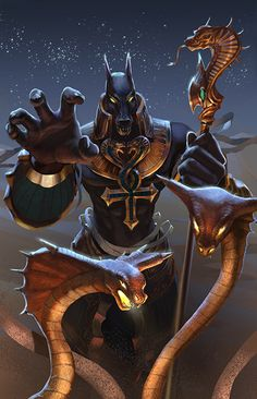 Heroes of Newerth - Anubis Pharaoh by Izaskun.deviantart.com on @deviantART