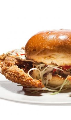 Fried soft-shell crab is more fun to eat when you put it in a sandwich. Claws up!