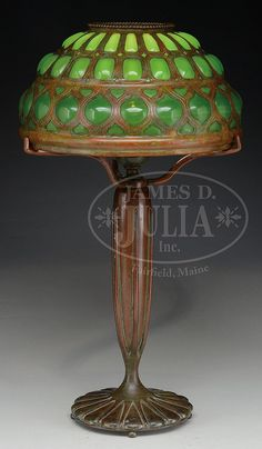Bid online, view images and see past prices for Extraordinary Rare Lamps, Glass & Fine Jewelry Auction. Invaluable is the world's largest marketplace of items at auction, live and online! Antique Lamps, Vintage Lamps, Vintage Lighting, Cool Lighting, Chandeliers, Candle Chandelier, Studio Lamp, Tiffany Glass, Tiffany Art