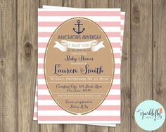 Nautical Baby Shower Ahoy It's a Boy by SparkleflyPaperie on Etsy
