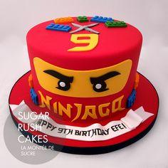 Ninjago Efe Cake for 8 Bolo Ninjago, Bolo Lego, Lego Ninjago Cake, Ninjago Party, Ninja Birthday Cake, Ninja Cake, Ninja Birthday Parties, 5th Birthday, Lego Themed Party