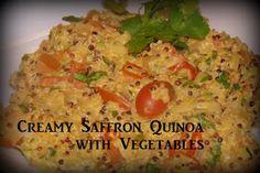 Colleen's Kitchen: Creamy Saffron Quinoa with Vegetables