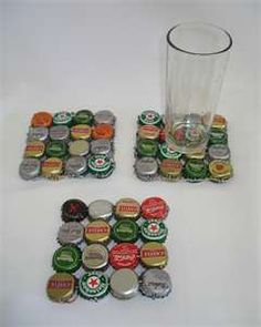 Recycled bottle top coaster