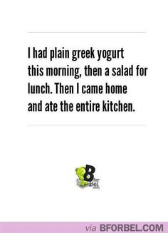 Yep except my breakfast and lunch would be very different