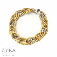 18K Two-Tone Twisted Link Bracelet