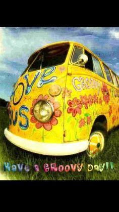 Hippie Groovy Van