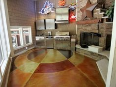 Mullti-Colored, Circular Concrete Floors Max Power Concrete Columbus, OH