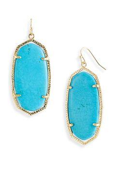 Kendra Scott Turquoise Earrings. Love them!
