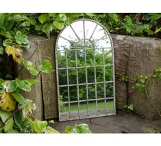 Large Decorative Gothic Arched Door Metal Framed Garden Wall Mirror Arch for sale online Arched Window Mirror, Arch Mirror, Arched Doors, Arched Windows, Wall Mirror, Mirror Ornaments, House Ornaments, Garden Ornaments, Outdoor Mirror