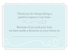 great donation card template -