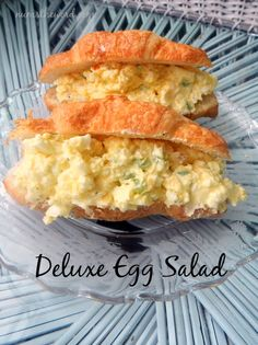 Deluxe Egg Salad _ It's delicious and you should really try it. Update: I added two slices of bacon to the top and oh man was it good!