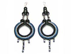Sutasz-Anka: Chain - earrings http://www.soutage.com/2012/09/chain-kolczyki.html#more