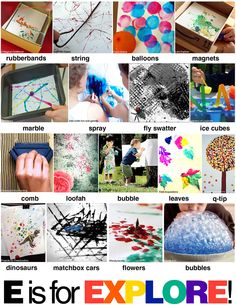 painting with a variety of materials