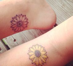Our matching sunflower sister tattoos