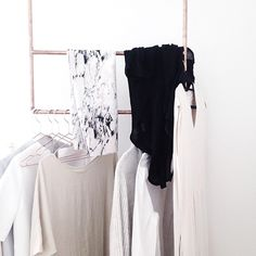 15 Things You'll Find In EVERY Fashion Girl's Apartment #refinery29  http://www.refinery29.com/fashion-home-decor-items#slide11  Matching Boutique Hangers  We're not sure if this makes you a fashion girl, or just an actual adult. Spacing them out evenly though, that's another story.