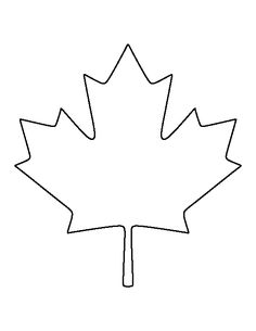Canadian Maple Leaf pattern. Use the printable outline for crafts, creating…