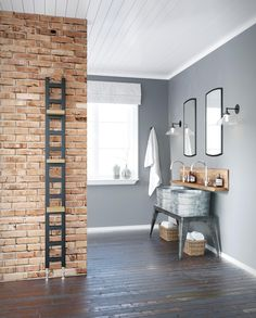 The DQ Oakham Towel Radiator is a stunning sleek, modern slimline designer radiator. A versatile and practical radiator as you can add shelves. Radiator Shelf, Towel Radiator, Radiator Valves, Radiator Ideas, Black Towel Rail, Black Towels, Ral Colour Chart, Column Radiators, Slimline Radiators