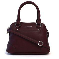 Liz Claiborne Lillian Mini Dome Satchel ($36) ❤ liked on Polyvore featuring bags, handbags, dome satchel purse, dome satchel handbag, mini satchel handbags, top handle satchel and imitation handbags