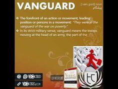 ویدیوکارد کلمه vangaurd از کتاب Verbal Advantage – سطح ۱
