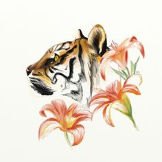 Tiger Lily by Retronator on DeviantArt Tiger Lily! I think I found my tattoo! Tiger Tattoo Small, Tiger Lily Tattoos, Flower Tattoos, Small Tattoos, Body Art Tattoos, Girl Tattoos, Wicked Tattoos, Tattoo Ink, Arm Tattoo